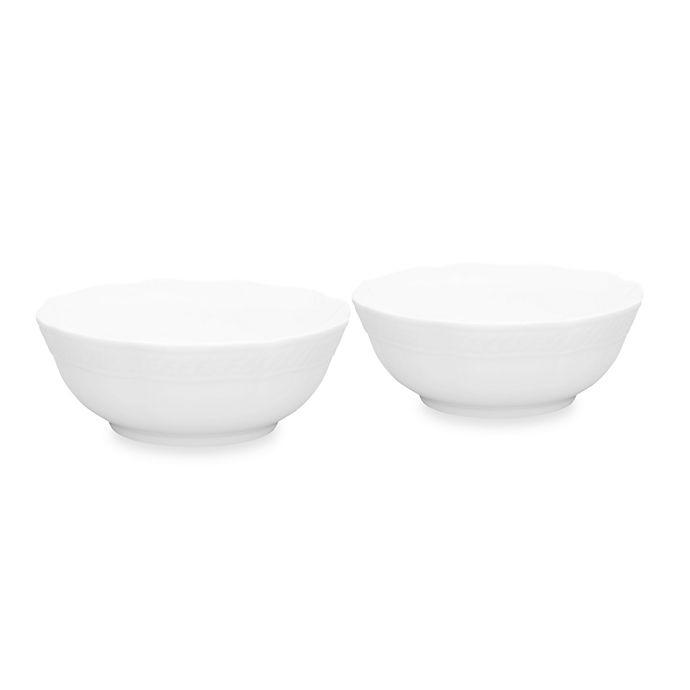 Alternate image 1 for Noritake® Cher Blanc Fruit Bowls (Set of 2)