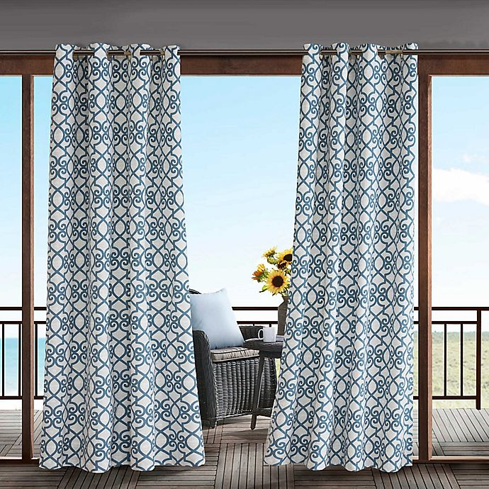 Alternate image 1 for Madison Park Daven 3M Scotchgard™ Grommet Top Outdoor Curtain Panel