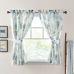 Croscill® Rothbury 64-Inch Rod Pocket Curtain Panel Pair in Green/White