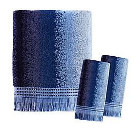 Eckhart Stripe Bath Towel Collection in Blue