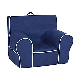 Kangaroo Trading Company Classic Kid's Grab-n-Go Foam Chair in Navy/White