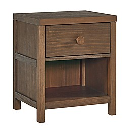 TiAmo Henley Nightstand in Weathered Brown