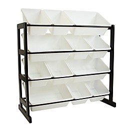 Humble Crew 12-Bin Toy Storage Ladder in Espresso
