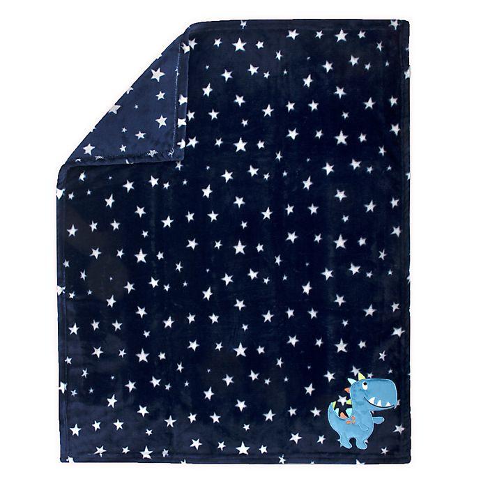 Alternate image 1 for Baby Essentials Dinosaur Stars Polyester Security Blanket