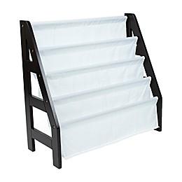 Tot Tutors 4-Tier Ladder Bookshelf Book Organizer in Espresso
