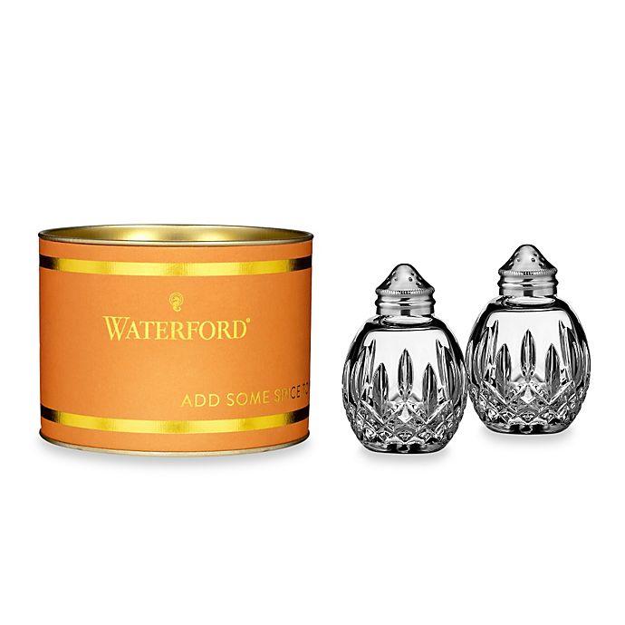 Alternate image 1 for Waterford® Giftology Lismore Round Salt & Pepper Shaker Set