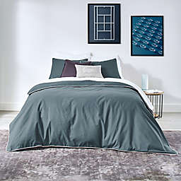 Lacoste Gorbio 3-Piece Reversible Full/Queen Duvet Cover Set in Dark Teal