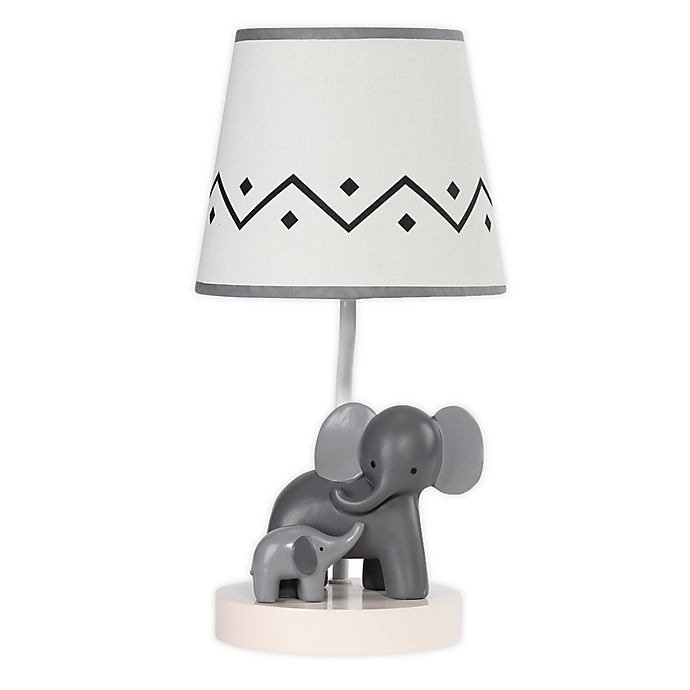 Alternate image 1 for Lambs & Ivy® Urban Jungle Me & Mama Table Lamp in Grey/White
