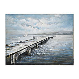 Moody Pier 36-Inch x 48-Inch Wrapped Canvas Wall Art