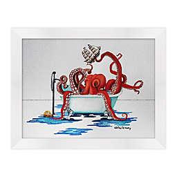 Octopus Bath I 18-Inch x 14-Inch Framed Wall Art