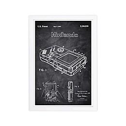WYNWOOD studio Gameboy 1993 Chalkboard 13-inch x 19-Inch Framed Wall Art in Black