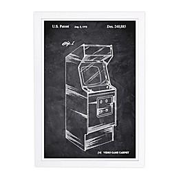 WYNWOOD studio Game Cabinet 1978 Chalkboard 13-Inch x 19-Inch Framed Wall Art in Black