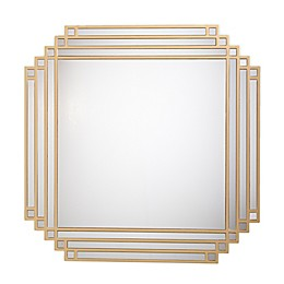 Southern Enterprises© Aviland 32-Inch Square Wall Mirror in Gold