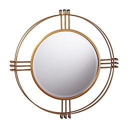 Southern Enterprises© Iverna 28.5-Inch Round Wall Mirror in Gold