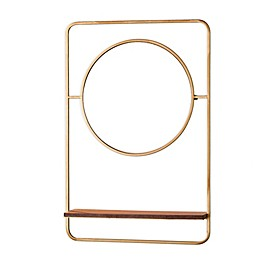 Southern Enterprises© Condray 20-Inch x 30-Inch Rectangular Mirror with Shelf in Brushed Brass