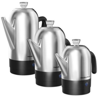 Hamilton Beach 174 Stainless Steel Coffee Percolators Bed
