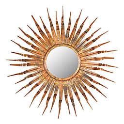 Safavieh Sun Round Sunburst Mirror in Copper