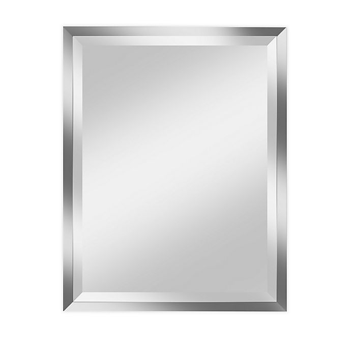 Alpine Art Mirror Madison Frameless 28 Inch X 34 Inch Rectangular Beveled Wall Mirror Bed Bath Beyond