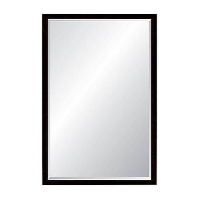 Alternate image 1 for Foundry 22.75-Inch x 35.75-Inch Rectangular Wall Mirror in Antique Pewter