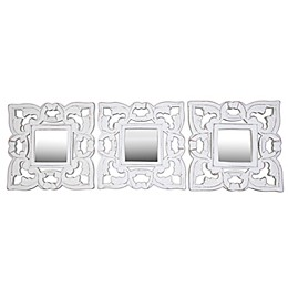 Global Caravan™ Carved Wall Mirrors in White (Set of 3)