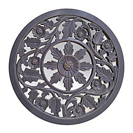 Global Caravan™ Carved Peekaboo Mirror in Antique Grey