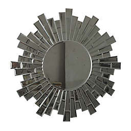 W Home Sunburst 32-Inch Round Wall Mirror