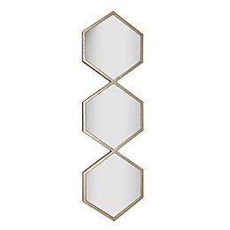 One Kings Lane Open House™ Triple Long 40.5-Inch x 12.2-Inch Wall Mirror in Gold