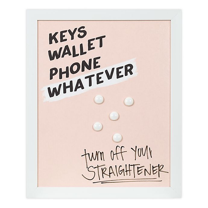 Alternate image 1 for Designs Direct Keys Wallet Phone 17-Inch x 14-Inch Framed Board Wall Art in Pink
