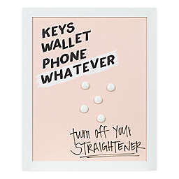 Designs Direct Keys Wallet Phone 17-Inch x 14-Inch Framed Board Wall Art in Pink