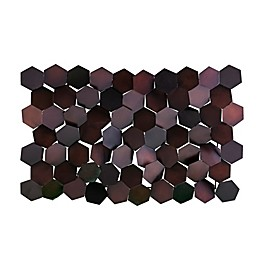Southern Enterprises© Hexlen 35.75-Inch x 22.75-Inch Metal Wall Sculpture in Copper and Brown
