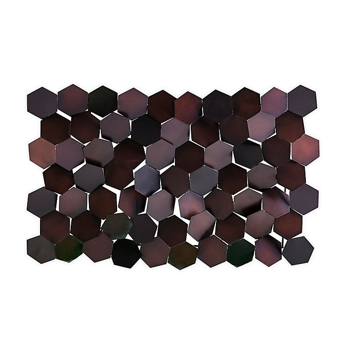 Alternate image 1 for Southern Enterprises© Hexlen 35.75-Inch x 22.75-Inch Metal Wall Sculpture in Copper and Brown