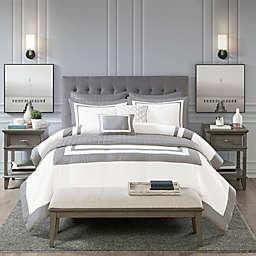 Madison Park Heritage 8-Piece King/California King Comforter & Coverlet Set in Grey
