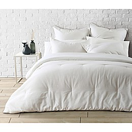 Garment Washed 3-Piece Reversible Linen Comforter Set