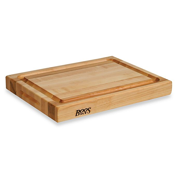 Alternate image 1 for John Boos Reversible 20-Inch x 15-Inch Maple Cutting Board