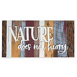 Sweet Bird & Co. Nature Does Not Hurry 16-Inch x 8-Inch Reclaimed Wood Wall Art