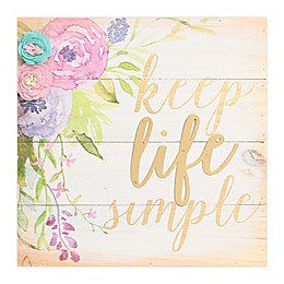 Sweet Bird & Co Keep Life Simple Wood Wall Art