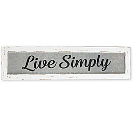 Sweet Bird & Co. Live Simply 24-Inch x 6-Inch Reclaimed Wood Wall Art