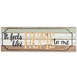 Sweet Bird & Co. Feels Like Home 24-Inch x 8-Inch Reclaimed Wood Wall Art