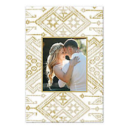 Gold Persian Pattern 16-Inch x 24-Inch Personalized Canvas Rug