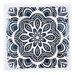 Global Caravan™ Watercolor Mandala 57-Inch x 57-Inch Tapestry Wall Art in Blue