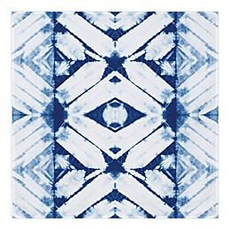 Global Caravan™ Shibori Tie Dye 57-Inch x 57-Inch Tapestry Wall Art in Blue