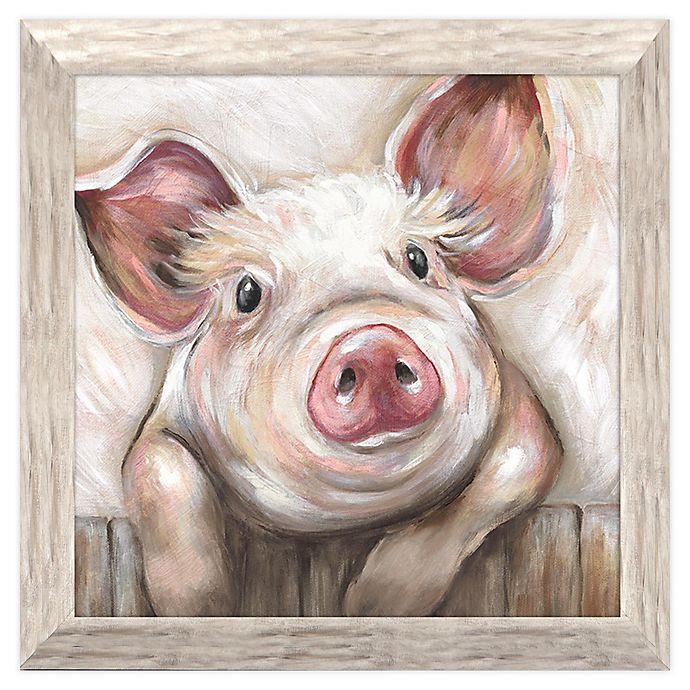 Alternate image 1 for Lola Pig 19.25-Inch Square Framed Wall Art