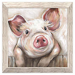 Lola Pig 19.25-Inch Square Framed Wall Art