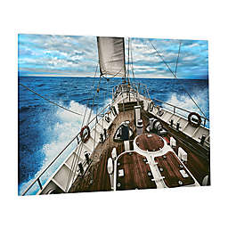 Sailboat Waters Photographic Tempered Glass Wall Art