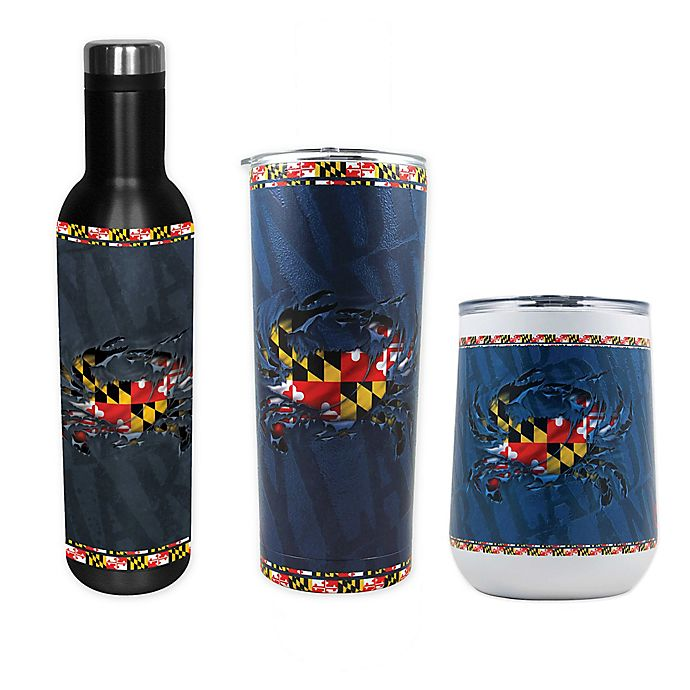 Alternate image 1 for Indigo Falls State of Maryland Drinkware Collection