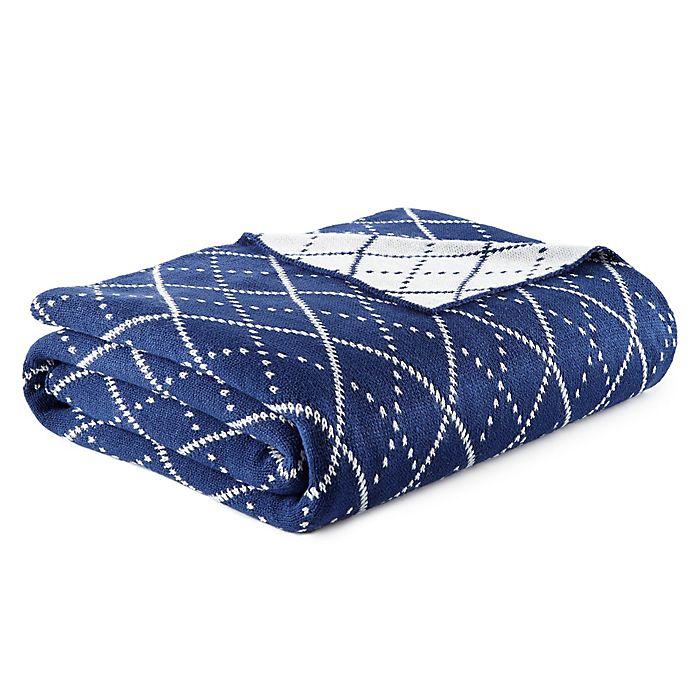 Alternate image 1 for Arlington Powder Blue Knit Throw