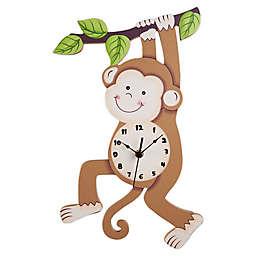 Fantasy Fields by Teamson Kids Sunny Safari Monkey Wall Clock