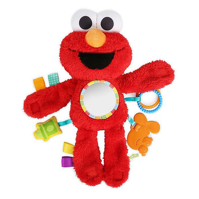 Alternate image 1 for Bright Starts™ Sesame Street Elmo On-The-Go Plush Stroller Toy in Red