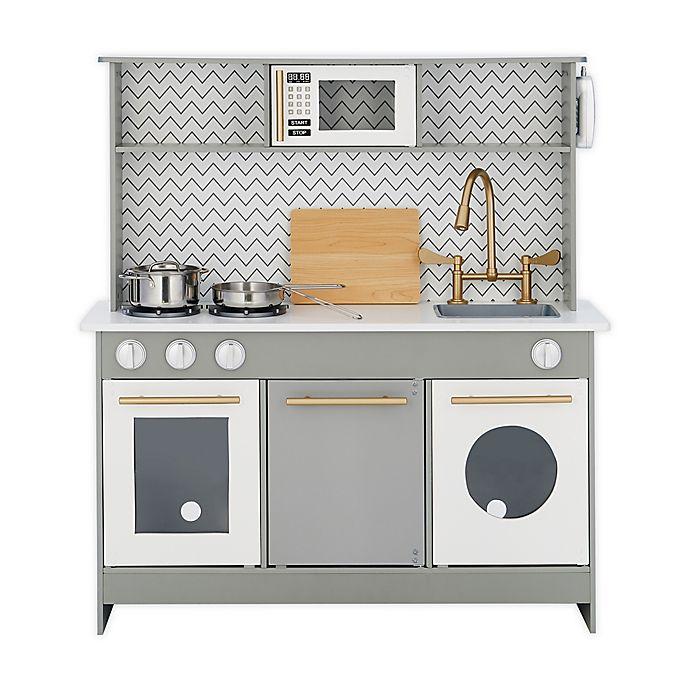Alternate image 1 for Teamson™ Kids Little Chef Berlin Modern Play Kitchen in Grey/White
