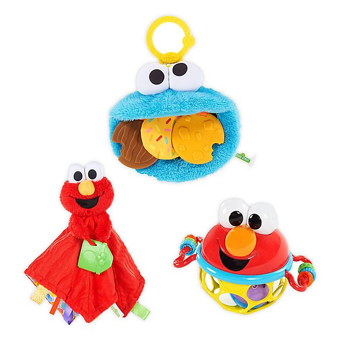 Alternate image 1 for Sesame Street® Friendly Monsters 3-Piece Gift Set